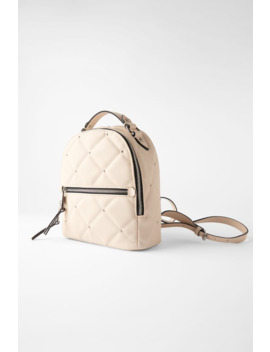 Medium Studded Quilted Backpack by Zara