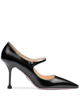 Pointed Toe Mary Jane Pumps by Prada
