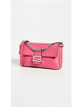 Fendi Pink Nappa Micro Baguette Bag by What Goes Around Comes Around