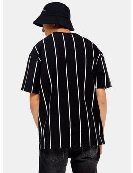 Signature Black Stripe Printed T Shirt by Topman