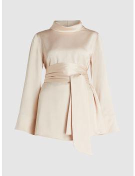 Emma Slouch Collar Tie Waist Viscose Blend Top by Layeur