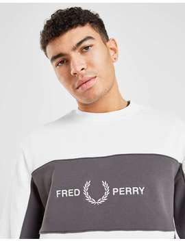Fred Perry Cut And Sew Central Logo Crew Sweatshirt by Jd Sports