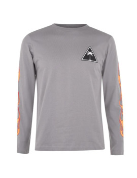 Flames Long Sleeve T Shirt by Palm Angels