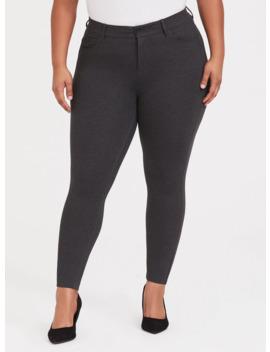 Bombshell Skinny Premium Ponte Pant   Charcoal Grey by Torrid