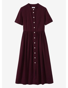 Cotton Oxford Shirt Dress by Toast