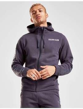 Calvin Klein Performance Tonal Tape Zip Through Hoodie by Jd Sports