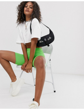 Asos Design Tall Super Crop T Shirt With Raw Edge In White by Asos Design