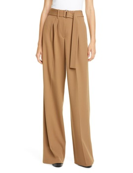 Wide Leg Cotton Blend Chino Pants by Hilfiger Collection