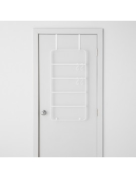 Over The Door Garment Rack With Accessories White   Made By Design™ by Shop This Collection