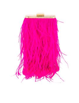 Tonia Feather Fringed Shoulder Bag by Olga Berg