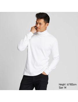T Shirt Cotone Soffice Collo Alto Maniche Lunghe Uomo by Uniqlo
