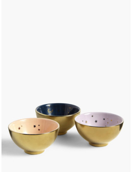 John Lewis & Partners Mini Abstract Star Bowls, Set Of 3 by John Lewis & Partners