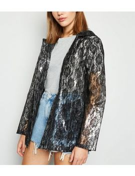 Urban Bliss Black Lace Mac by New Look