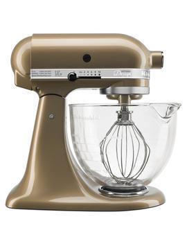 Kitchen Aid Ksm155 Gbcz Artisan Design Series 5 Quart Tilt Head Stand Mixer With Glass Bowl, Champagne by Kitchen Aid