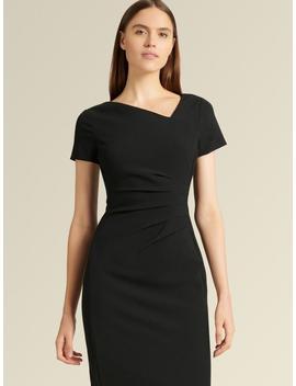 Short Sleeve Ruched Sheath Dress by Donna Karan