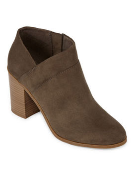 A.N.A Womens Ames Booties Block Heel by A.N.A