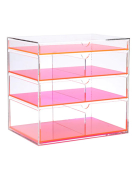 Ikee Design Acrylic Makeup Organizer   Neon Pink by Ikee Design