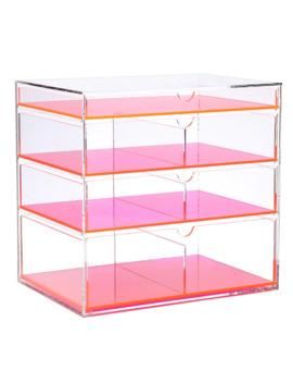 Ikee Design Acrylic Makeup Organizer   Neon Pink by Ikee Design