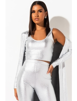 Turn Up The Lights Metallic Crop Top by Akira