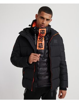 Taped Sports Puffer Jacket by Superdry