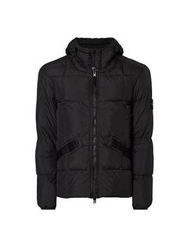 Crinkle Hooded Jacket by Stone Island