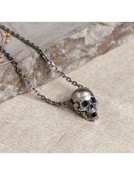 "Vintage S925 Sterling Silver Skull Pendant Necklace 20"" Chain by Sterling Silver  ×  925 Silver  ×  Jewelry  ×"
