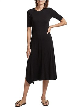 Rachel Rib Midi Dress by Saba