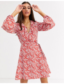 Glamorous Tall Wrap Dress In Vintage Floral by Glamorous
