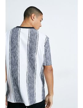 Guess Originals Black And White Micro Stripe T Shirt by Guess Originals