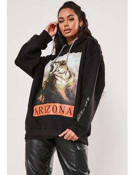 Black Graphic Arizona Oversized Hoodie by Missguided