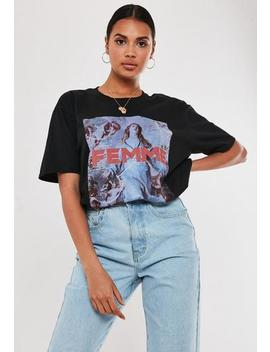 Black Femme Graphic T Shirt by Missguided