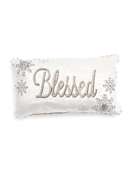 Made In India 14x24 Velvet Blessed Pillow by Tj Maxx