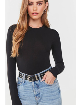 Ribbed Knit Long Sleeve Top by Forever 21
