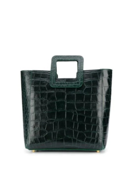 Croc Effect Tote Bag by Staud