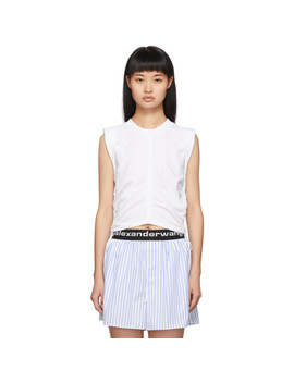 White Wash + Go Side Tie Crop Top by Alexanderwang.T
