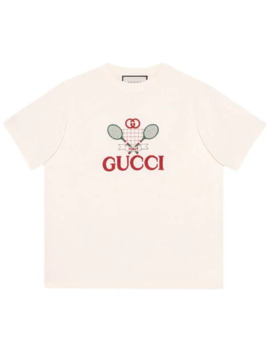 T Shirt With Gucci Tennis by Gucci