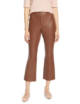 X Atlantic Pacific Crop Flare Faux Leather Pants by Halogen