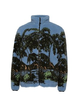 Stussy Hawaiian Jacquard Mock Jacket   Blue by Garmentory