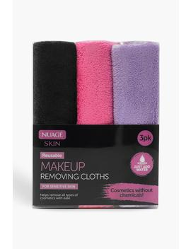 Make Up Removing Cloths   3 Pack by Boohoo