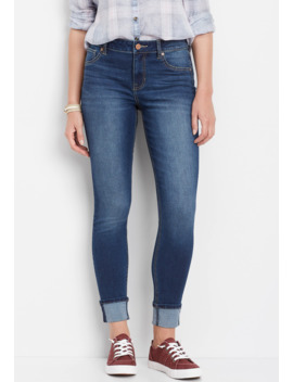 Denim Flex™ High Rise Cuffed Dark Wash Jegging by Maurices