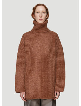 Oversized Knit Sweater In Brown by Acne Studios