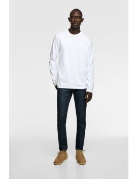 T Shirt Basique À Manches Longues by Zara