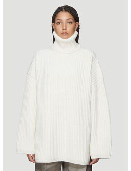 Lx2 New Disa Sweater In White by Acne Studios