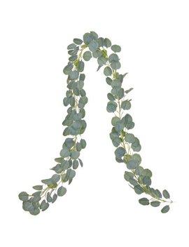 67'' Artificial Eucalyptus Garland Faux Silk Eucalyptus Leaves Vines Handmade Garland Greenery Wedding Backdrop Arch Wall Decor by Asewin