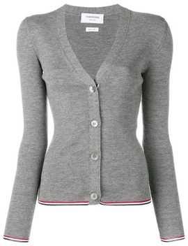 Merino Wool Grey Cardigan by Thom Browne