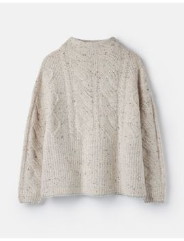 Joyce Cable Knit Jumper by Joules