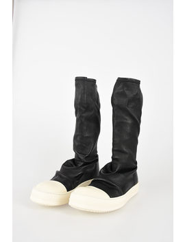 Leather Sock Sneaks Ankle Boots by Rick Owens