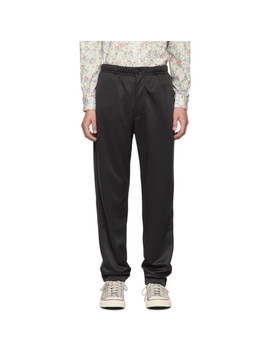 Black Fleece Jog Lounge Pants by Engineered Garments