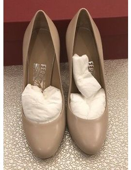 $650 New Salvatore Ferragamo New Womens Heels Ladies Beige Shoes Size 5 C Us 35 by Ebay Seller
