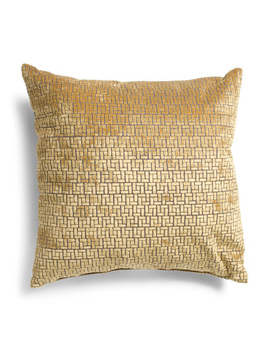 Made In Usa 22x22 Textured Cut Velvet Pillow by Tj Maxx